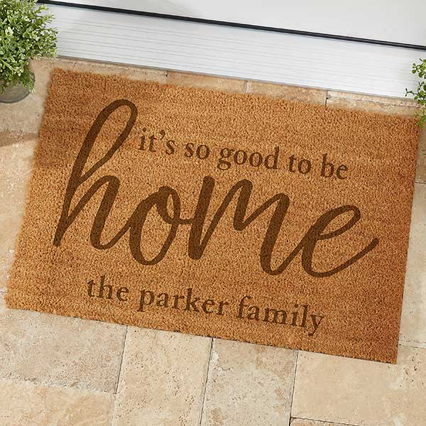 Good To Be Home Personalized Coir Doormat - 21180