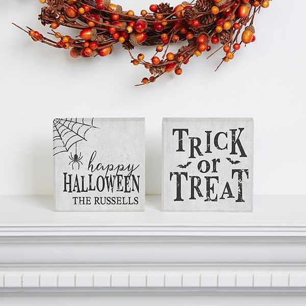 Happy Halloween Personalized Shelf Blocks - 21185