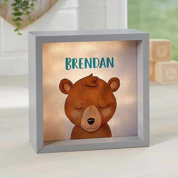 Personalized LED Shadow Box - Woodland Bear - 21188