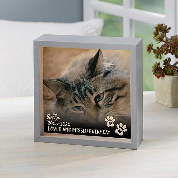 All Occasions Pet Memorial Box Personalized Keepsake Box Pet Urn Cat Keepsake Box Custom Pet Photo Cat Box Photo Box