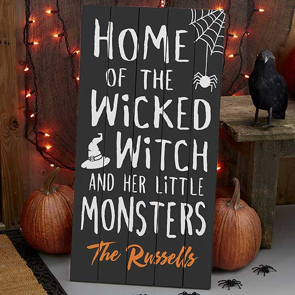 Personalized Halloween Large Wood Pallet Sign - 21201