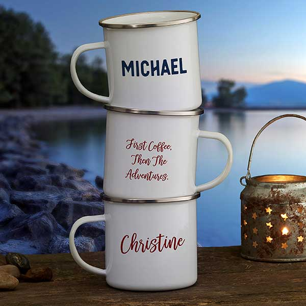 Custom Camping Mugs - Add Your Own Text - 21215