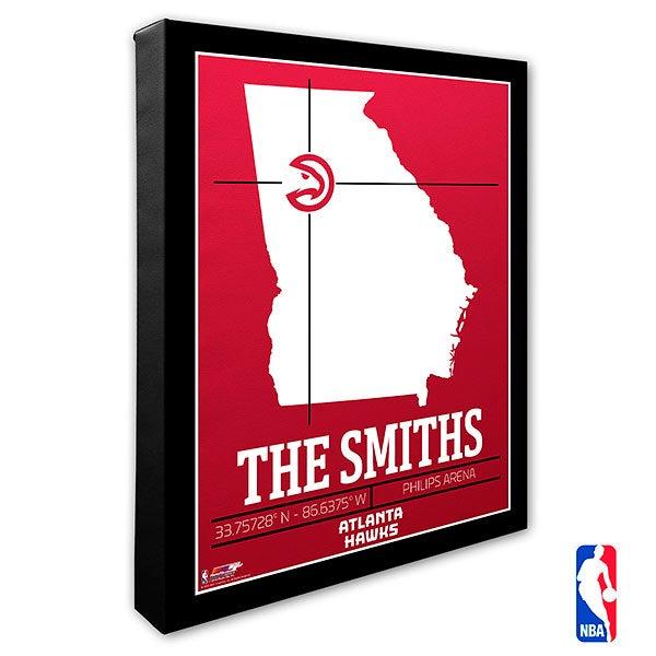 Atlanta Hawks Personalized NBA Wall Art - 21218