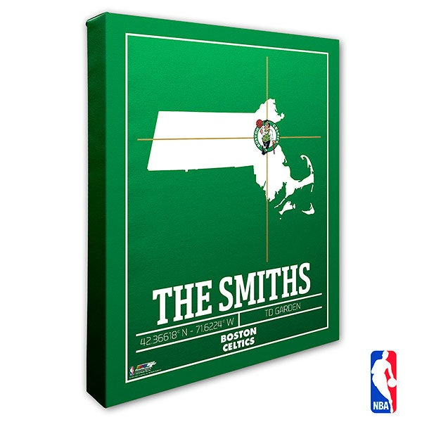 Boston Celtics Personalized NBA Wall Art - 21219