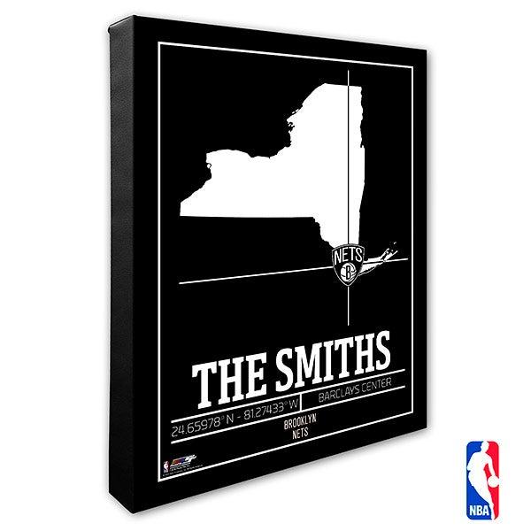 Brooklyn Nets Personalized NBA Wall Art - 21220