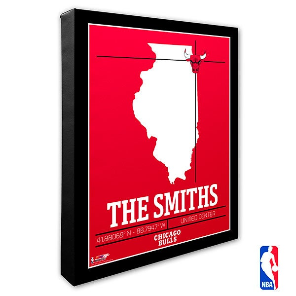 Chicago Bulls Personalized NBA Wall Art - 21222