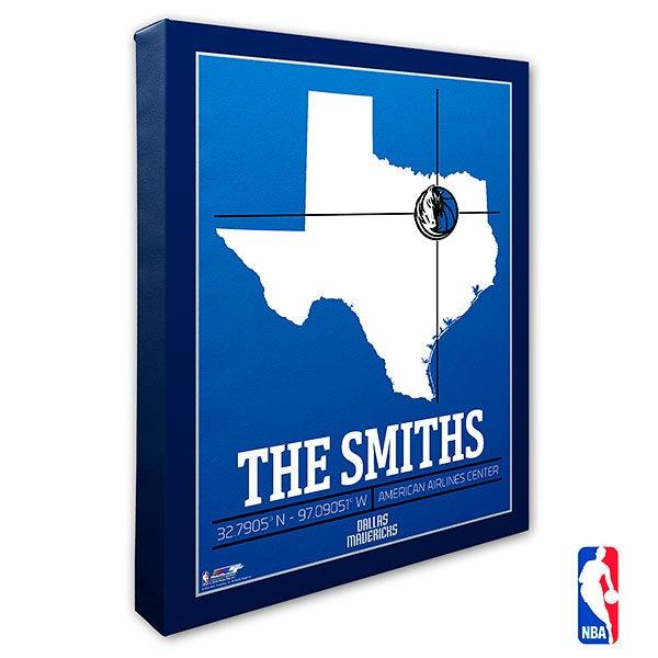 Dallas Mavericks Personalized NBA Wall Art - 21224