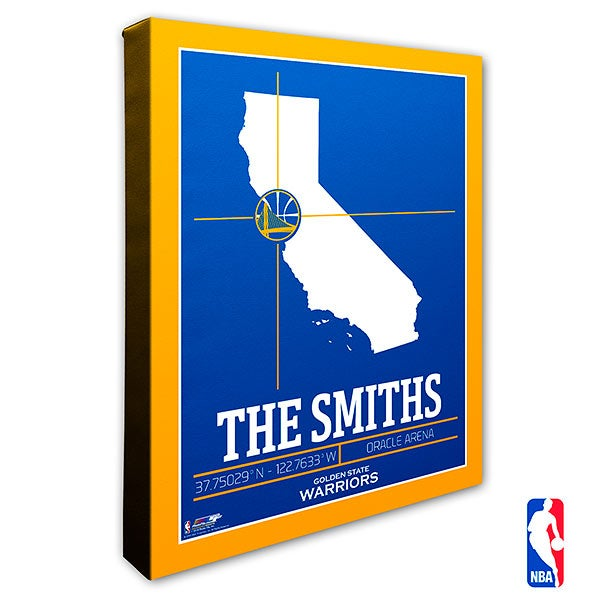 Golden State Warriors Personalized NBA Wall Art - 21227