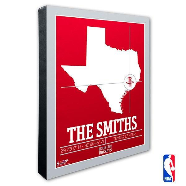 Houston Rockets Personalized NBA Wall Art - 21228