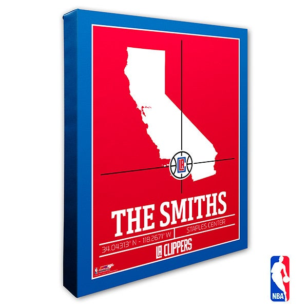 Los Angeles Clippers Personalized NBA Wall Art - 21230