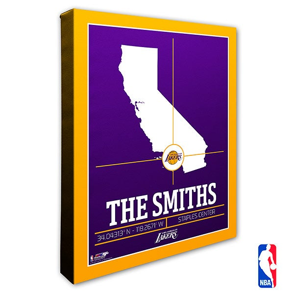 Los Angeles Lakers Personalized NBA Wall Art - 21231