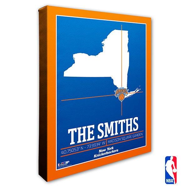 New York Knicks Personalized NBA Wall Art - 21237