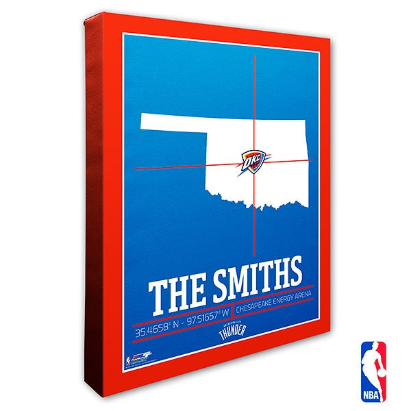Oklahoma City Thunder Personalized NBA Wall Art - 21238