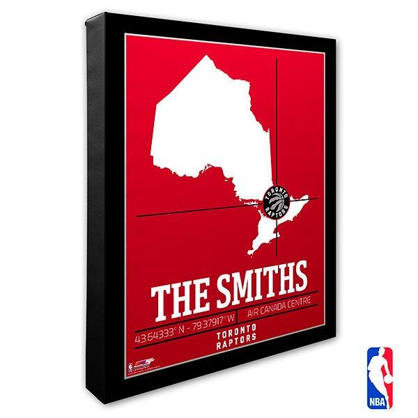 Toronto Raptors Personalized NBA Wall Art - 21245