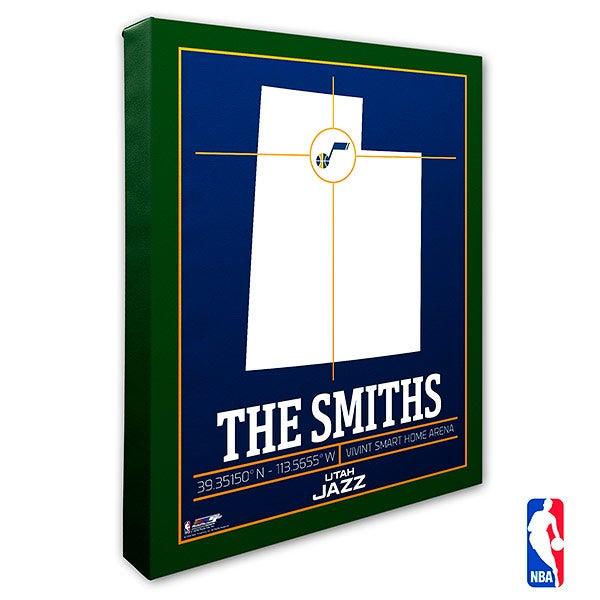 Utah Jazz Personalized NBA Wall Art - 21246