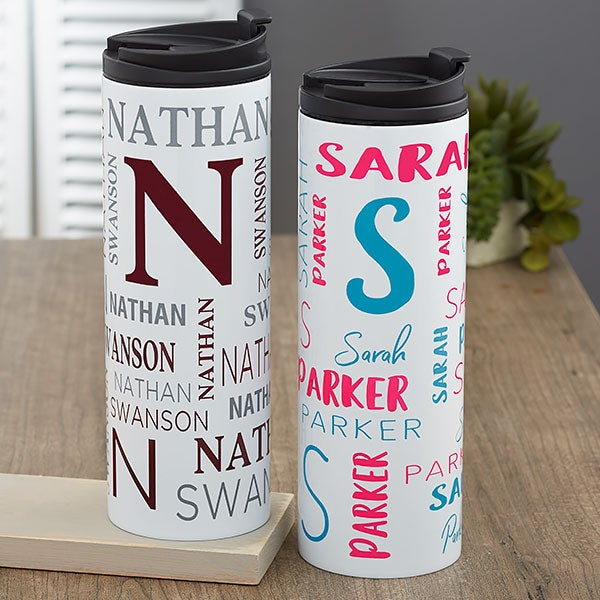 53061a87e95 Notable Name Personalized Travel Tumbler - 21247