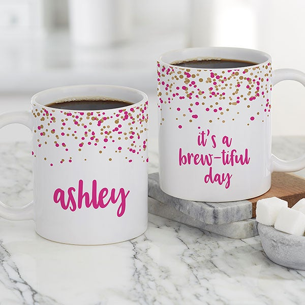 Sparkling Name Personalized Coffee Mugs