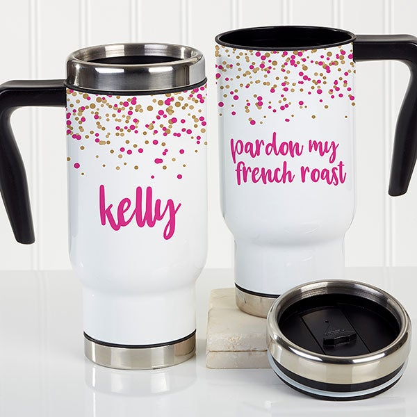 Sparkling Name Personalized Commuter Travel Mug - 21252