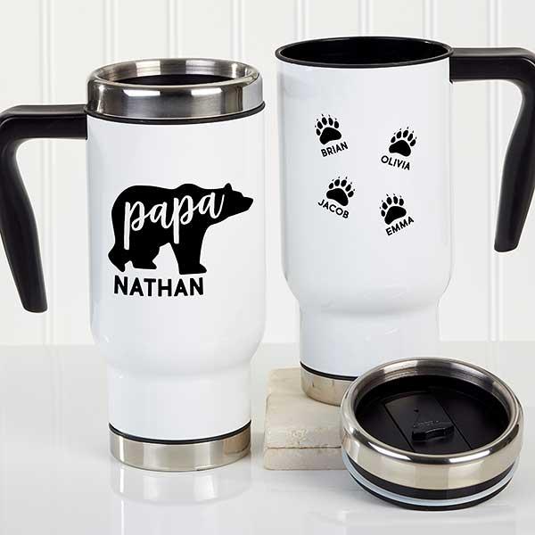 Papa Bear Personalized Travel Mug - 21255