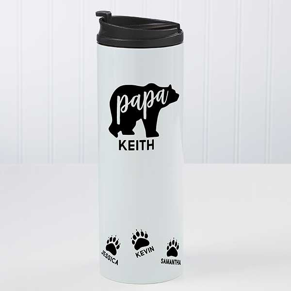 Personalized Papa Bear Travel Mug - 21256
