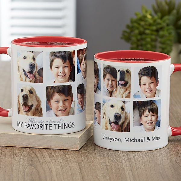 My Favorite Things Personalized Photo Coffee Mugs - 21257