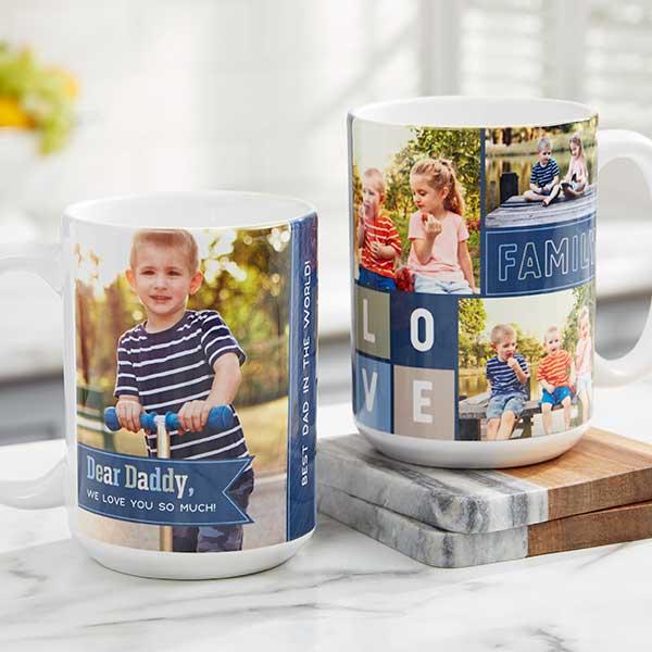 Dear Dad Personalized Photo Coffee Mugs - 21267