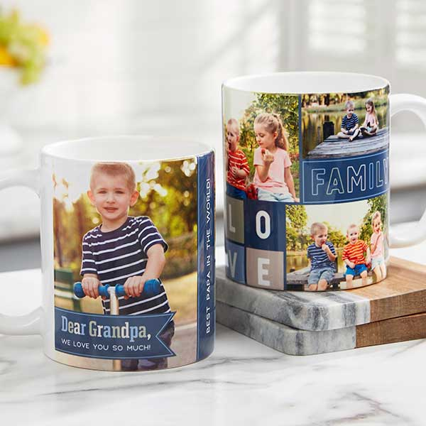 Dear Dad Personalized Photo Coffee Mugs - 21267