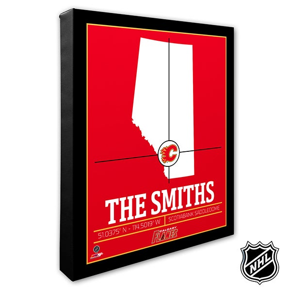 Calgary Flames Personalized NHL Wall Art - 21308