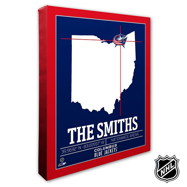 Columbus Blue Jackets Personalized NHL Wall Art - 21312