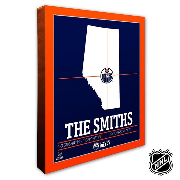 Edmonton Oilers Personalized NHL Wall Art - 21315