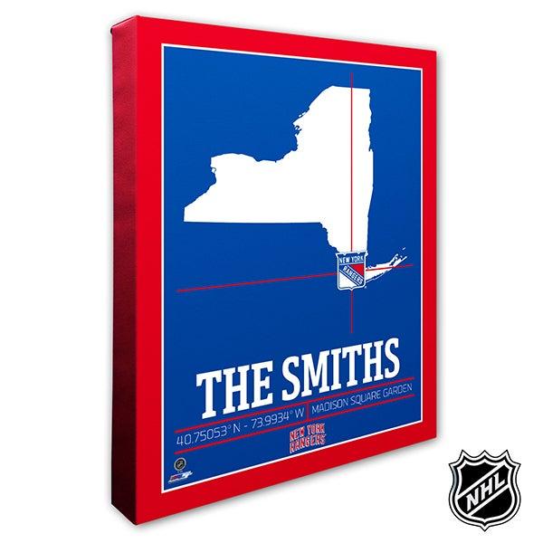 New York Rangers Personalized NHL Wall Art - 21323