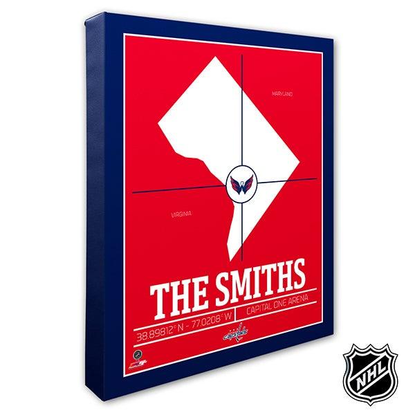 Washington Capitals Personalized NHL Wall Art - 21334
