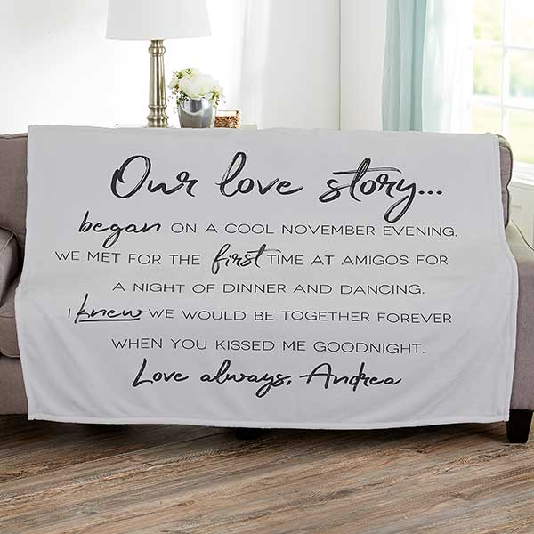 Our Love Story Personalized Couple Blankets - 21336