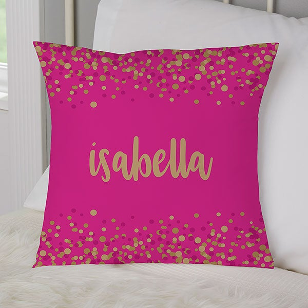 Fantastic Sparkling Name Personalized Small Throw Pillow Inzonedesignstudio Interior Chair Design Inzonedesignstudiocom