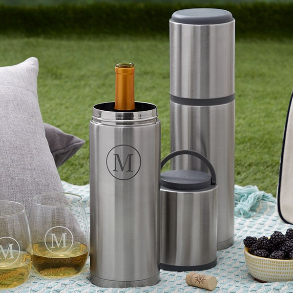 Personalized Portable Wine Bottle Chiller - 21360