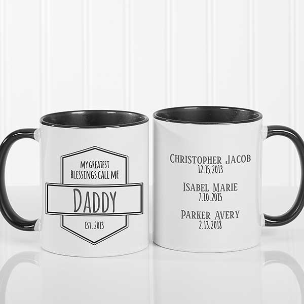 Personalized Coffee Mugs - My Greatest Blessings - 21386