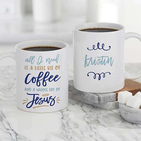 Little Bit Of Coffee And A Whole Lot Personalized Mugs 21392