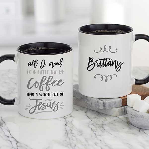 A Little Bit Of Coffee And Lot Black Mug