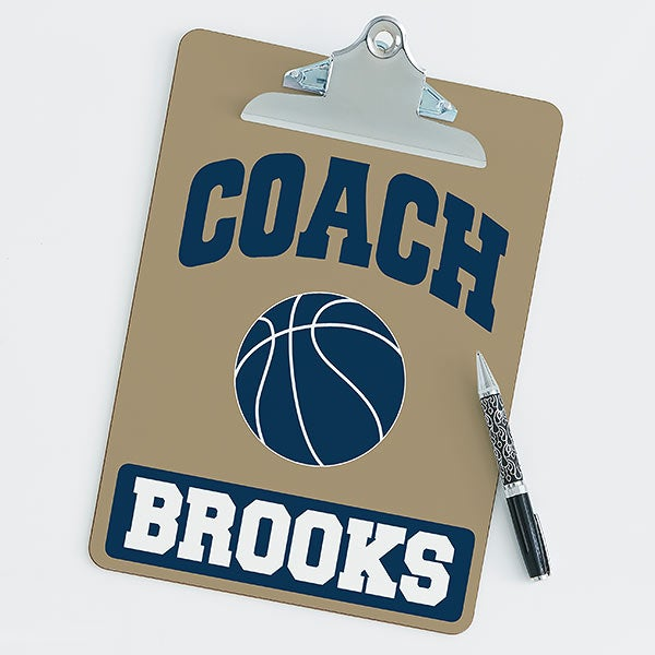 Personalized Clipboards For Basketball Coaches - 21420