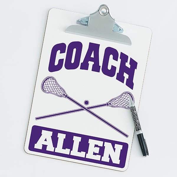 Personalized Clipboards For Lacrosse Coaches - 21425