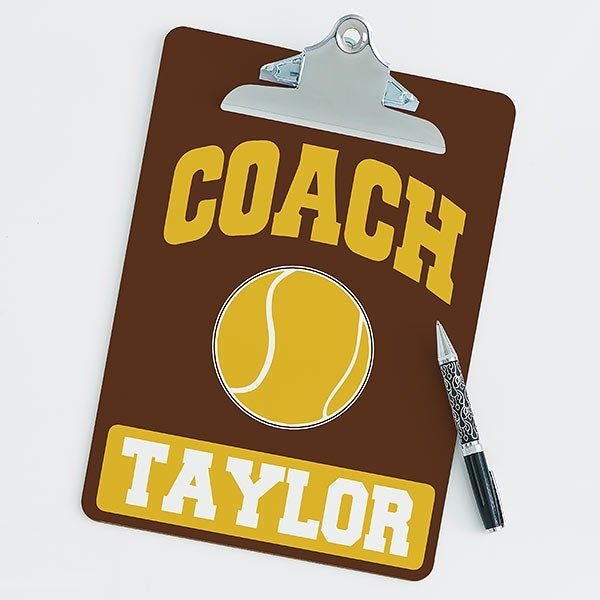 Personalized Clipboards For Tennis Coaches - 21427