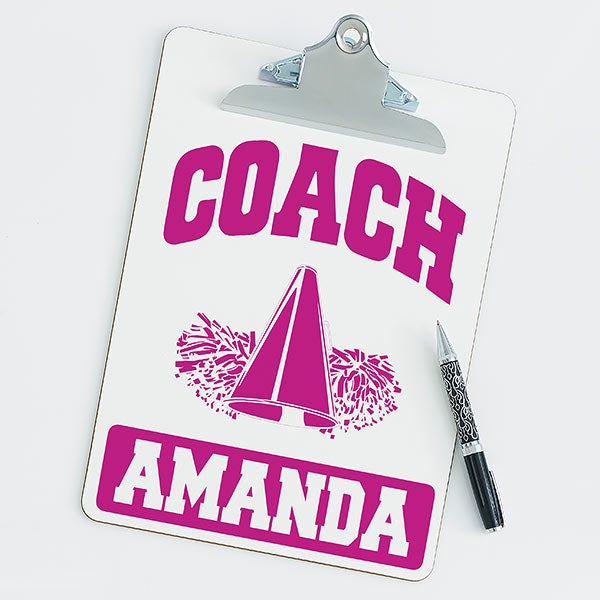 Personalized Clipboards For Cheerleading Coaches - 21431
