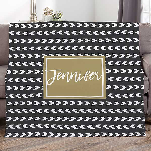 Personalized Blankets - Custom Colors, Patterns & Names - 21435