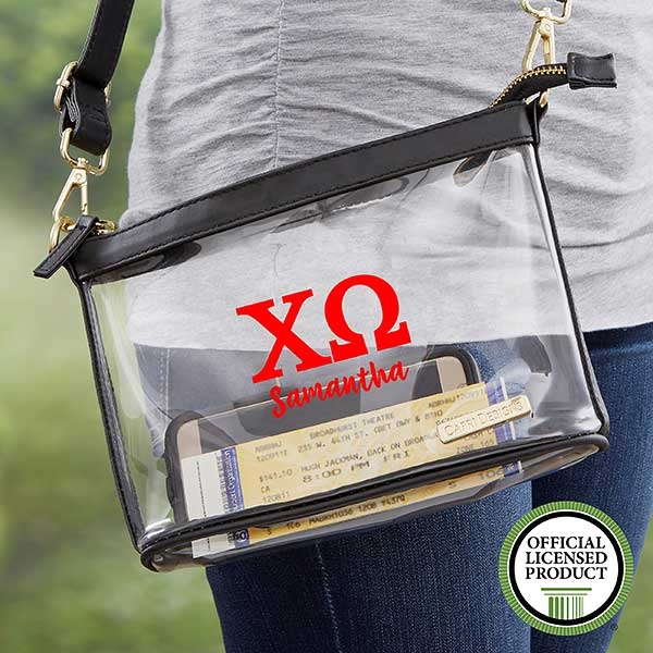 Chi Omega Personalized Clear Stadium Purse - 21442
