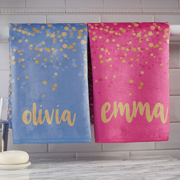 Personalized Hand Towels - Sparkling Name - 21476