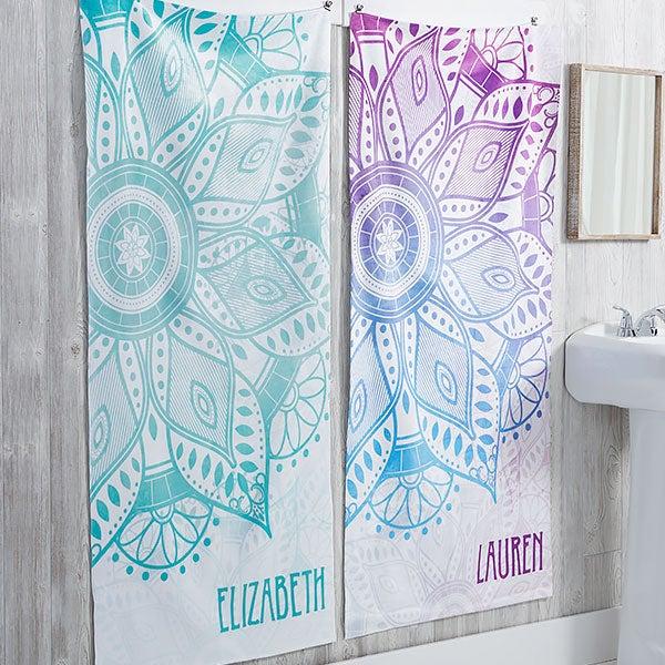 Mandala Personalized Bath Towels - 21480