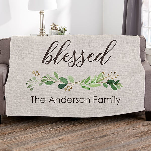 Personalized Blankets - Greenery Welcome - 21483