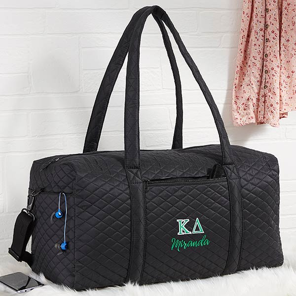 138b1ff37ed5 Kappa Delta Embroidered Quilted Duffel Bag