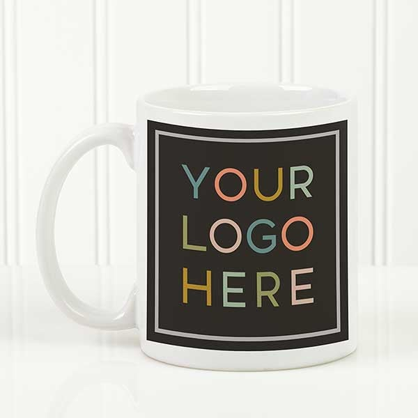 4000e4309c942 Your Logo Here Personalized White Coffee Mug