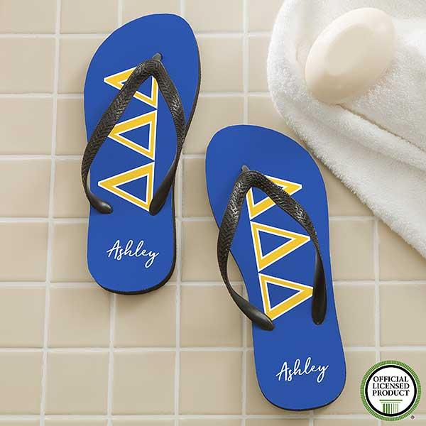 d8cf81d8fb8660 Tri Delta Sorority Personalized Flip Flops - 21563